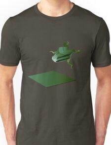 Origami Frog Landing Unisex T-Shirt