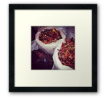 Chillies in Mexico  Framed Print