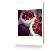 Chillies in Mexico  Greeting Card