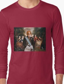 Borzoi - Russian Wolfhound Art Canvas Print - Artist seiling his painting Long Sleeve T-Shirt