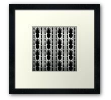 Pineapple - gray Framed Print