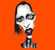 Marilyn Manson Caricature Kids Clothes