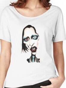 Marilyn Manson Caricature Women's Relaxed Fit T-Shirt