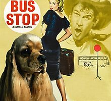 American Cocker Spaniel Art - Bus Stop Movie Poster by NobilityDogs