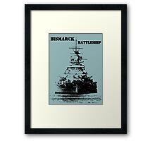 Bismarck Battleship Framed Print