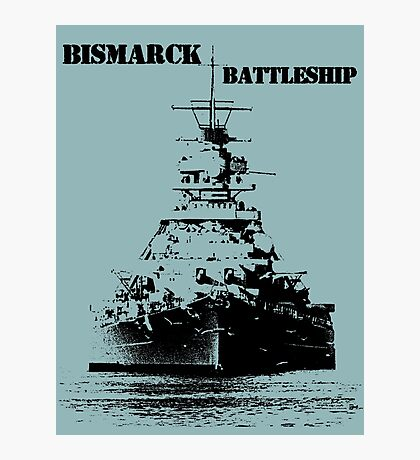 Bismarck Battleship Photographic Print