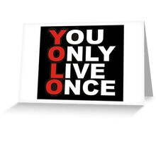 Yolo Items Greeting Card