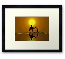 The road to Bethlehem'... Framed Print