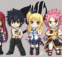 Fairy Tail Friends Chibi by Athen Stringer