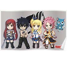 Fairy Tail Friends Chibi Poster