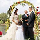 The Vows; 7-7-2007 Clouds Break just in time for a lakeside wedding blessed from heaven by leih2008