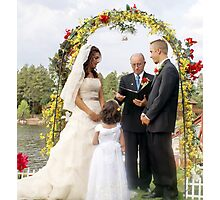 The Vows; 7-7-2007 Clouds Break just in time for a lakeside wedding blessed from heaven Photographic Print