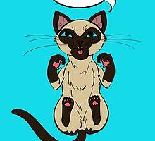 Trap Cat (Siamese Cat) by ErinA2