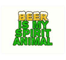 Beer Spirit Animal Art Print