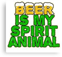 Beer Spirit Animal Canvas Print