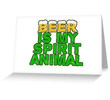 Beer Spirit Animal Greeting Card