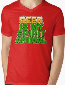 Beer Spirit Animal Mens V-Neck T-Shirt
