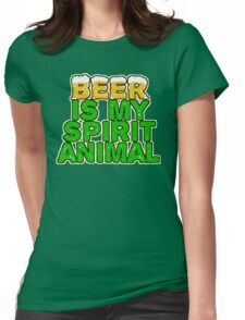 Beer Spirit Animal Womens Fitted T-Shirt