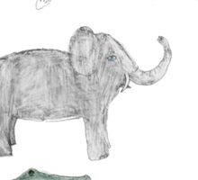 Zoo animals pattern Sticker