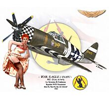 War Eagle - P47D Thunderbolt Photographic Print