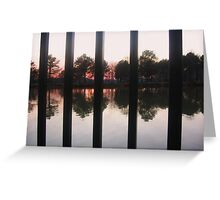 Railings & Reflections Greeting Card