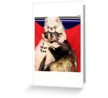 I WUV YOU Greeting Card