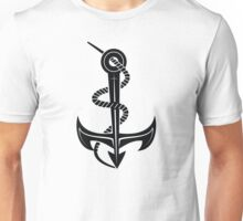 Roped Anchor Illustration Unisex T-Shirt