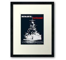 Bismarck - Battleship Framed Print