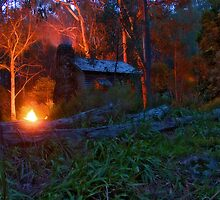 Keppel Hut On Fire by Lindsay Knowles