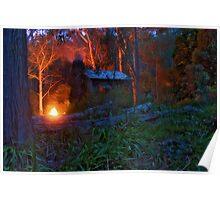 Keppel Hut On Fire Poster
