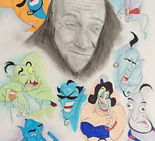 Robin Williams as Genie by artistic-shasta
