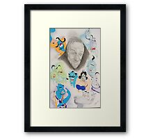 Robin Williams as Genie Framed Print