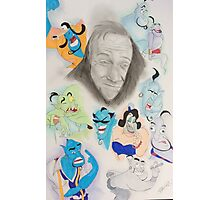 Robin Williams as Genie Photographic Print