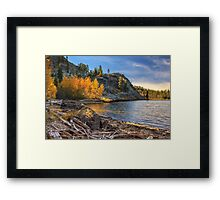 Last Light On Taylor Lake Framed Print