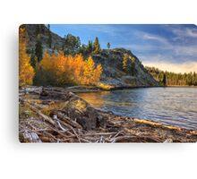 Last Light On Taylor Lake Canvas Print