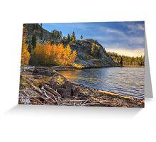 Last Light On Taylor Lake Greeting Card