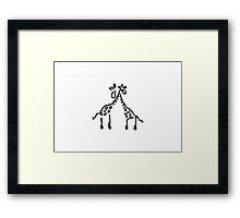 giraffe love Framed Print
