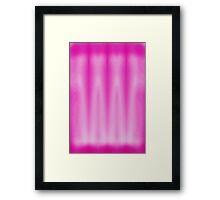 Pink white washed Framed Print