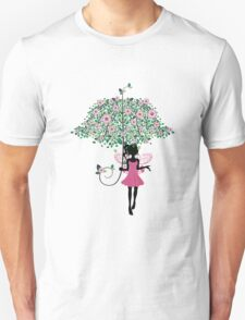 Fairy with Floral Umbrella T-Shirt