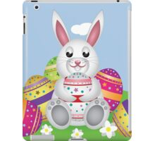 White bunny with Easter eggs 2 iPad Case/Skin