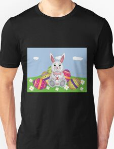 White bunny with Easter eggs 2 Unisex T-Shirt