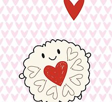 Jammie Dodger Biscuit by marcelinesmith