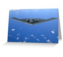 Flying UFO Military Bomber Greeting Card