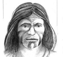 My interpretation of a Borrado Indian from Nuevo Leon, Mexico by Jorge H. Elias