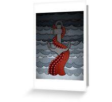 Kraken - with anchor Greeting Card