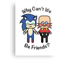 Sonic & Dr.Robotnik Metal Print