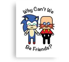 Sonic & Dr.Robotnik Canvas Print