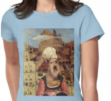 Airedale Terrier Art Canvas Print - The Tower of Babel Womens Fitted T-Shirt