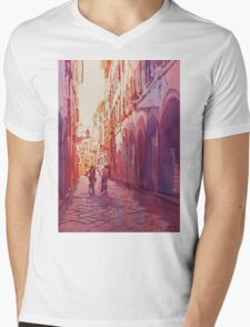 Italian Heat Mens V-Neck T-Shirt