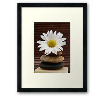 Zen Spa Daisy Meditation Tower Framed Print